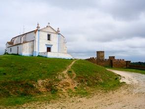 Arraiolos church in our portugal cycling tours