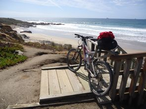 cycling by the beach