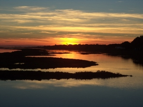 sunset on active holidays