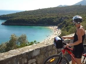 stunning beach view in bike tour